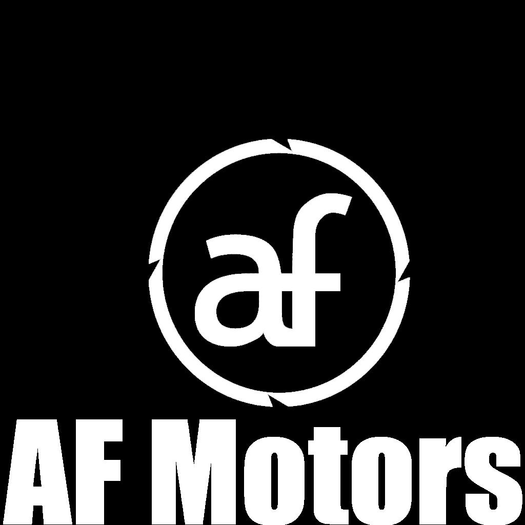 AF Motors - Logo con Scritta bianca CAGLIARI SESTU